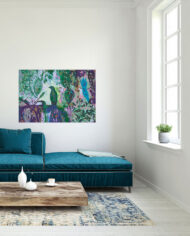 cissy-and-flo-design-birds-in-paradise-green-couch