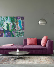 cissy-and-flo-design-birds-in-paradise-purple-couch