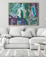 cissy-and-flo-design-birds-in-paradise-scandi-room-couch-oak-landscape-frame