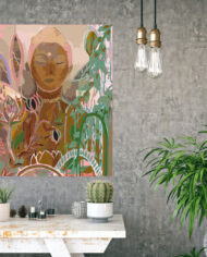 cissy-and-flo-design-buddha-dreaming-landscape-hall-stand-concrete-wall