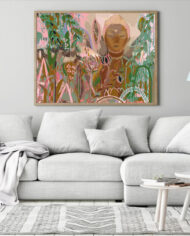 cissy-and-flo-design-buddha-dreaming-landscape-scandi-room-couch-oak-landscape-frame