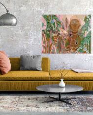 cissy-and-flo-design-buddha-dreaming-landscape-yellow-couch