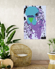 cissy-and-flo-design-fluff-the-budgie-portrait-tropical-room-cane-seat-blank-cream-textured-wall
