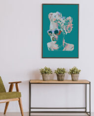 cissy-and-flo-design-maddy-aqua-reen-olive-chair-with-hall-stand-black-portrait-frame