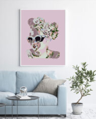 cissy-and-flo-design-maddy-pink-light-blue-couch-white-portrait-frame-on-white-wall