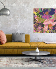cissy-and-flo-design-pansy-landscape-yellow-couch