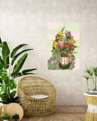 cissy-and-flo-design-still-life-1-tropical-room-cane-seat-blank-cream-textured-wall