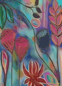 cissy-and-flo-designs-copyright-bush-kaleidoscope-a4-art-print-free